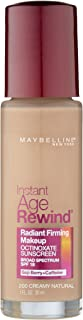 Maybelline New York Instant Age Rewind Radiant Firming Makeup, Creamy Natural 200, 1 Fluid Ounce