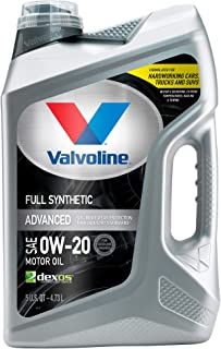 Valvoline Advanced Full Synthetic SAE 0W-20 Motor Oil 5 QT