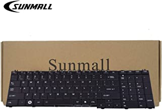 C655 Keyboard Compatible with Toshiba Satellite, SUNMALL Keyboard Replacement Compatible with Toshiba Satellite C655 I655 C755 I755 Series Laptop(6 Months Warranty)