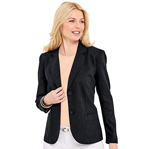 f883205ae8eb Chums Ladies Womens Tailored Linen Jacket Aqua