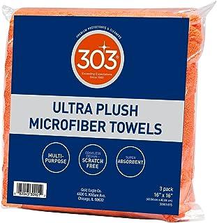 303 Premium Microfiber Towels - Automotive Detailing - Ultra Plush - Super Absorbent - Edgeless Design - Scratch Free - Mu...