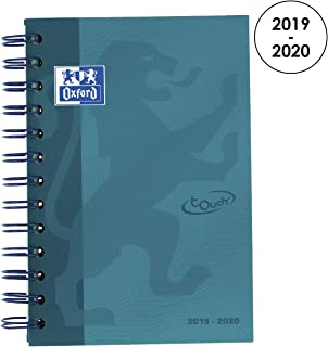 Oxford 100735777School Soft Touch 2018-2019Daily School Diary Day A Page, 12x 18cm, Aqua