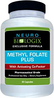 Neurobiologix Methyl Folate Plus™ Supplements - Bioactive Folinic Acid, Methyl Folate Dietary Capsules for Cardiovascular & Nervous System Health, Cell Growth and Tissue Repair (90 Capsules)
