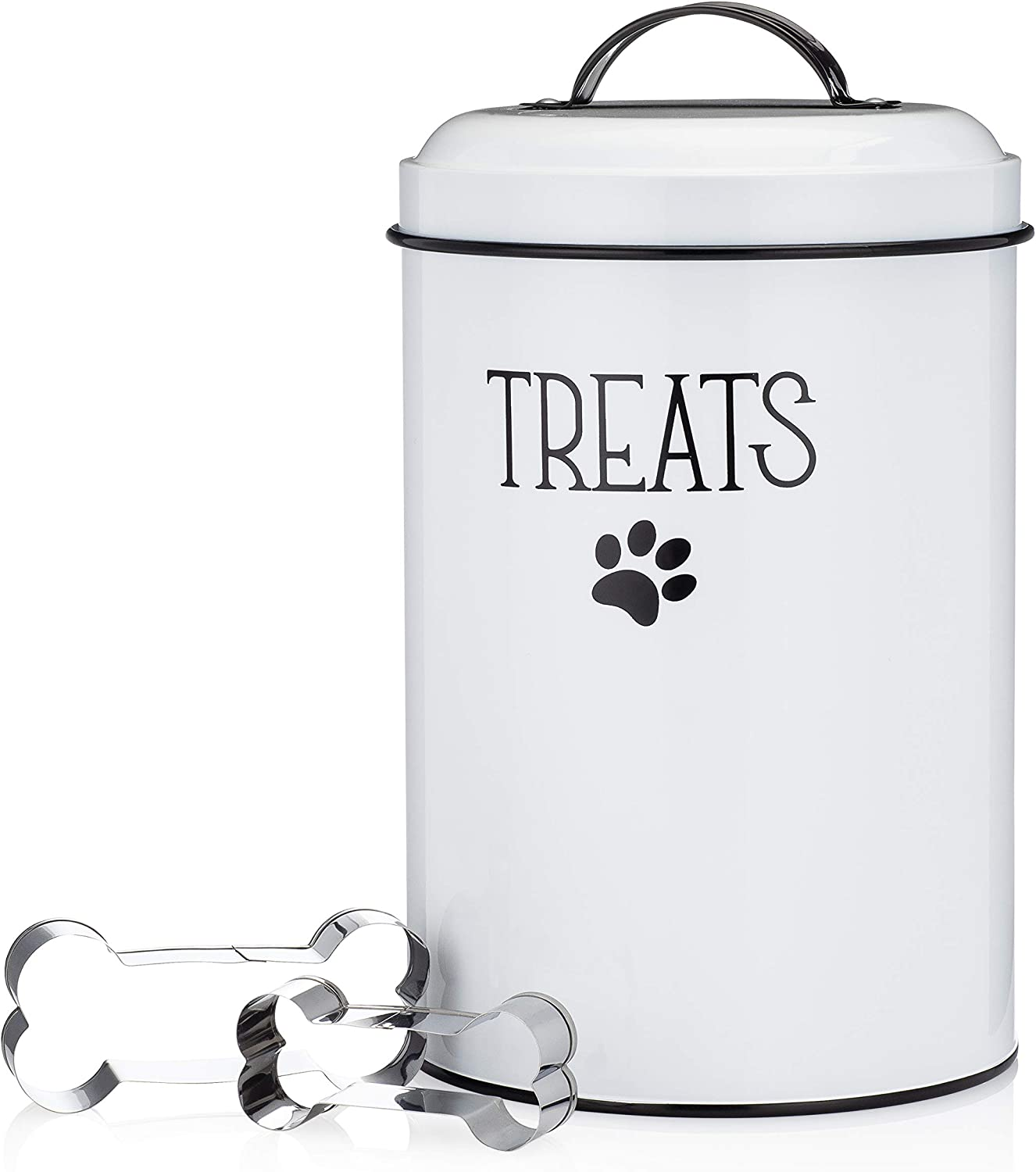 JRW Design White Dog and Free shipping Cat Plus Treat Ranking TOP4 Container 2 Bone-Shaped