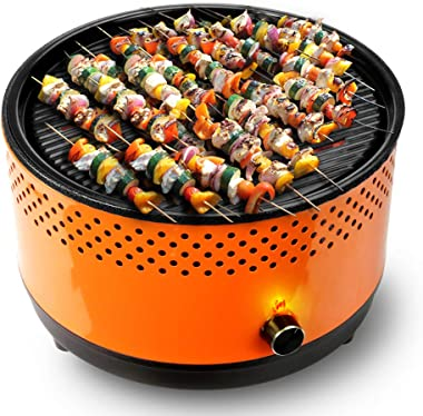 BUERK Portable Charcoal BBQ Grill Hibachi Grill Korean BBQ Grill Small&Mini Grill Suitable for Camping Indoor Outdoor Tableto