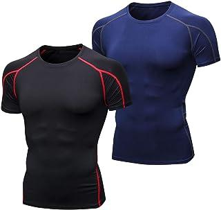Niksa 2 Piezas Camisetas de Fitness Compresión Ropa