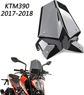 2015 protecci/ón ABS para Motocicleta KTM RC8 RC 8 2008 Fast Pro Protector de Parabrisas para Motocicleta Color Negro