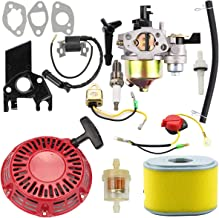 Euros GX160 Carburetor + 28400-ZH8-013YA Recoil Starter + 30500-ZE1-063 Ignition Coil + Air Filter Tune Up Kit Fit for Honda GX140 GX 160 GX168 GX200 5HP 5.5HP 6.5HP Engine