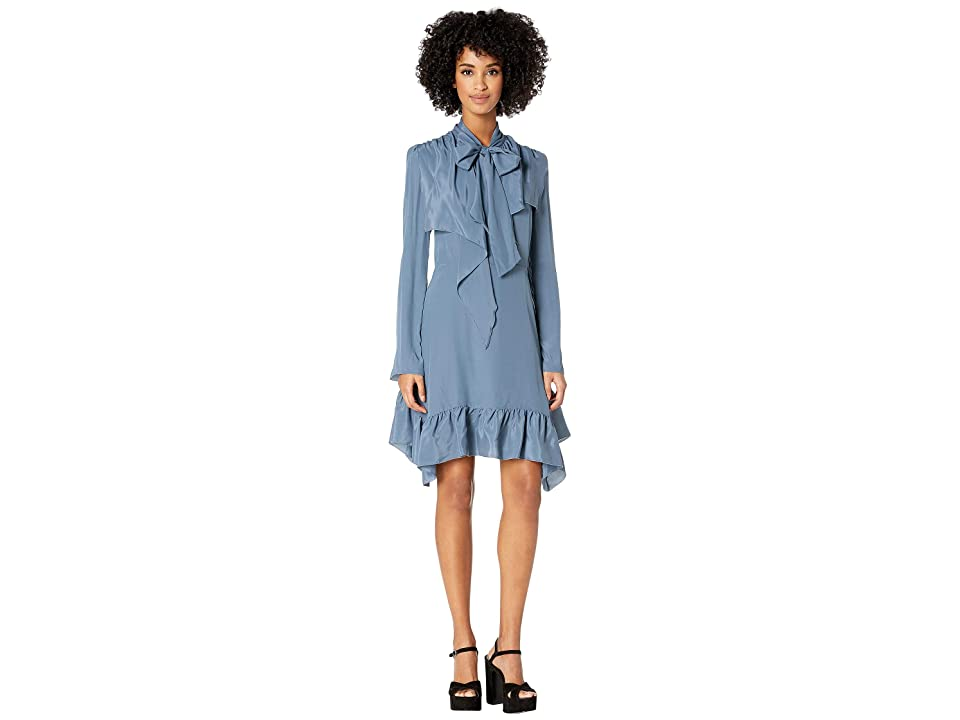 See by Chloe Crepe De Chine Dress (Mirage Blue) Women