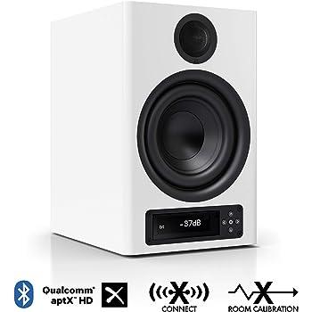 Nubert nuPro X-4000 RC Regallautsprecher   Bluetooth Lautsprecher aptX HD   Lautsprecher Verbindung kabellos High Res   Schreibtischlautsprecher für Homeoffice   Kompaktlautsprecher Weiß   1 Stück