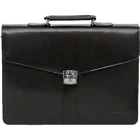 """Lombard by Tassia Porte-documents style business - compartiment pour ordinateur portable 15,4"""" - cuir mélangé - Noir"""