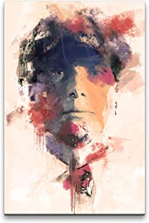 Peaky Blinders Cillian Murphy Porträt Abstrakt Kunst Kultserie 60x90cm Leinwandbild