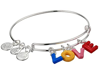 Alex and Ani Color Infusion Bangle Bracelet (Silver/Love) Bracelet