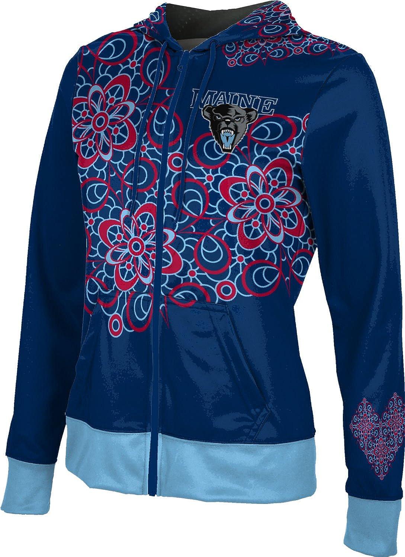 ProSphere University of Maine Girls' Zipper Hoodie, School Spirit Sweatshirt (Foxy)
