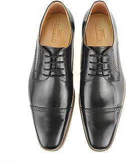 [ルシウス] ビジネスシューズ メンズ 革靴 外羽根 ストレートチップ メダリオン 本革 レザー ドレスシューズ プレーントゥ 紳士靴 春 靴 【HA17529-3-CPZ】