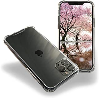 GIGANTIZ Compatible with iPhone 11 Pro Case, Shockproof Clear Case iPhone 11 Pro with Hard PC Back and Flexible TPU Bumper Case for iPhone11 Pro 5'8 inch