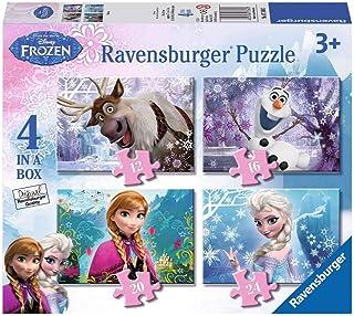 Ravensburger Frozen 4 pussel, isblå 1set