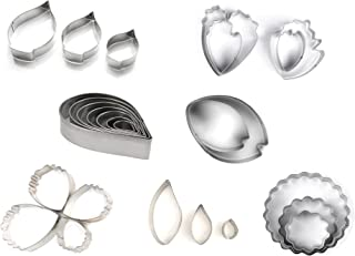 SMYLLS 26 Pcs Stainless Steel Flower Cookie Cutters Set,Fantastic Cake Decorating Kit,Best Cookie Cutters For Holiday Party Wedding And Birthday