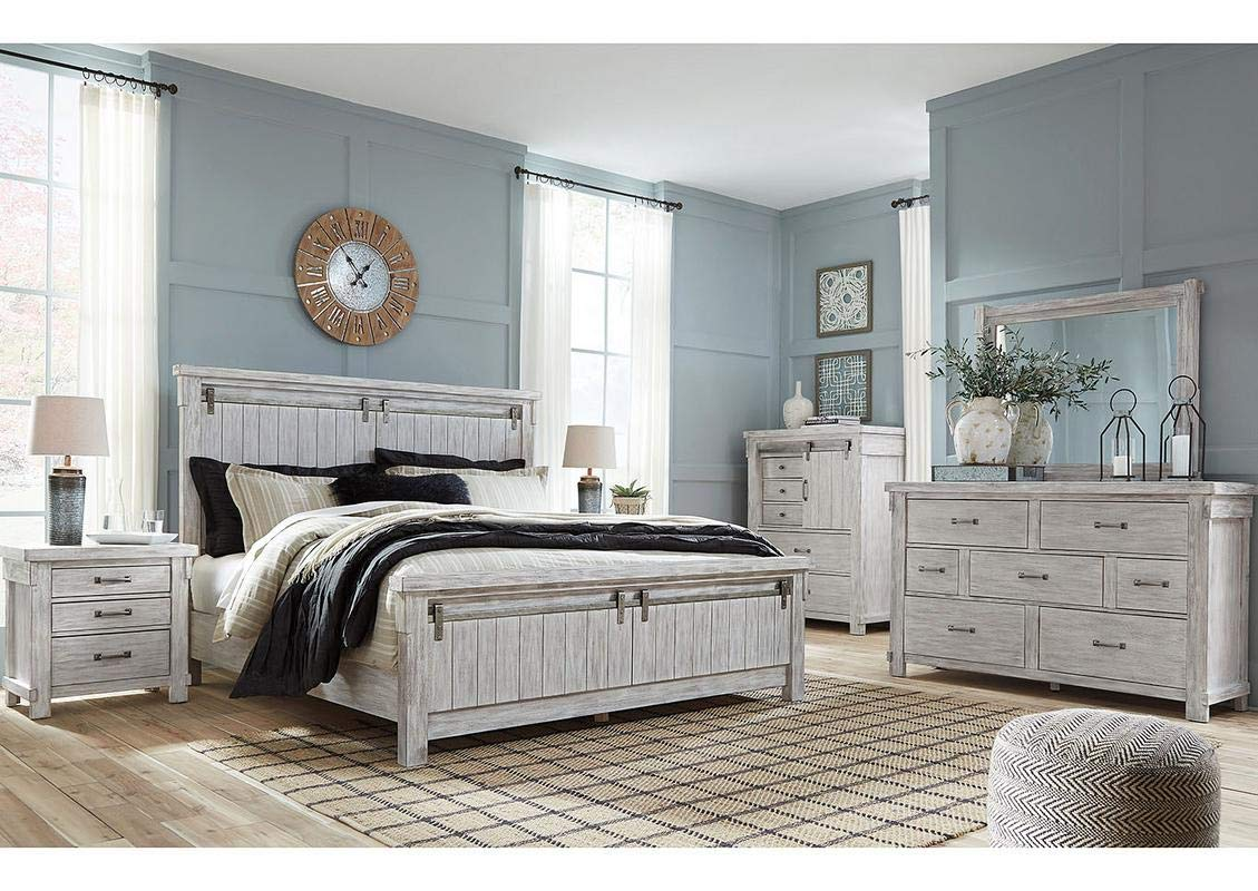 Amazing Buys Brashland Bedroom Set By Ashley Furniture Includes King Bed Dresser And Mirror Buy Online In Jamaica At Jamaica Desertcart Com Productid 169717258
