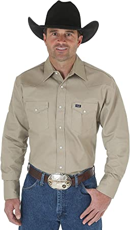 Western Long Sleeve Snap Firm Finish Work Shirt