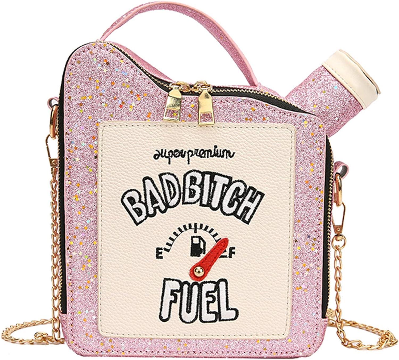 WOG2008 Women Laser Max 51% OFF 1 year warranty Bling Gasoline Embroidered Lett Bag Shoulder