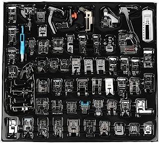 Máquina de Coser nähfüsse, 62pcs presupuesto Multifuncional máquina de Coser Piezas Prensa pie Máquina de Coser Accesorios Kit Set para Silueta, Hermano, Janome y Otros Pesado Máquinas de Coser