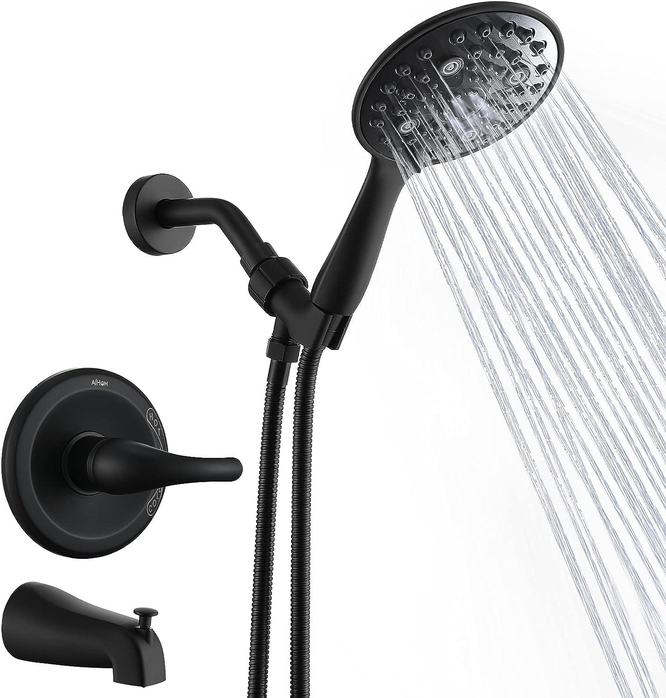 Buy Shower Faucet Set Matte Black Valve Included, Aihom Shower ...