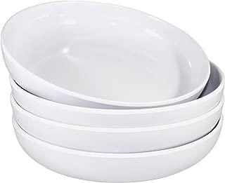 Virtual Elements White Plastic 100 Percent Melamine Salad and Pasta Bowls 30 Ounce Set of Four