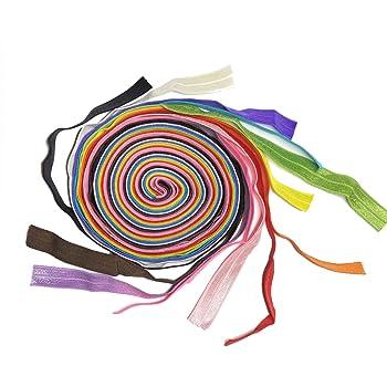 "Bright Colors FOE soft lingerie fold over elastic 10YD 1//2/"" Behind Head Masks"