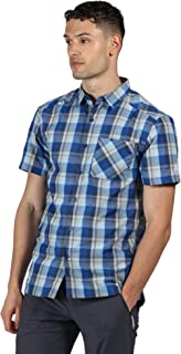 Regatta Men's Kalambo V' Quick Drying Active Short Sleeve Check Shirts