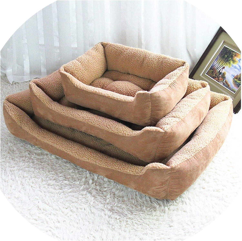 Longingsummer Plus Size Dog Beds For Large Dogs House Soft Pet Dog Bed Mats Cotton Pet Beds For Large Pets Cats Warm Pet Cat House,brown,XL 90  70  18cm