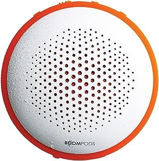 Boompods Fusion Bluetooth Outdoor Portable Speaker (White/Orange) - Dual Pairing - Massive Bass - Waterproof - 8 Hour Rech...