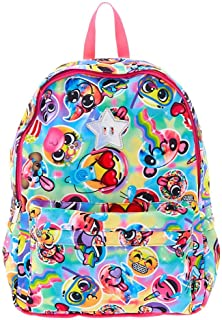 Claire's Back to School Girl's Backpacks Shoulder Strap Ruck Sacks For All Occasions (Rainbow Emoji)