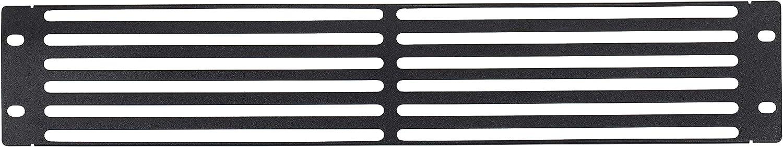 KENUCO Blank Rack Mount Panel Spacer with Venting for 19-Inch Server Network Rack Enclosure - Black (B-4U)
