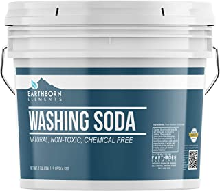 All-Natural Washing Soda (1 Gallon (9 lbs)) by Earthborn Elements, Soda Ash, Sodium Carbonate, Laundry Booster, Non-Toxic, Hypoallergenic