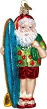 Old World Christmas Ornaments: Surfer Santa Glass Blown Ornaments for Christmas Tree