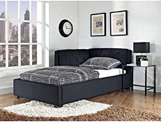 Tufted Lounge Reversible Twin Bed, Black