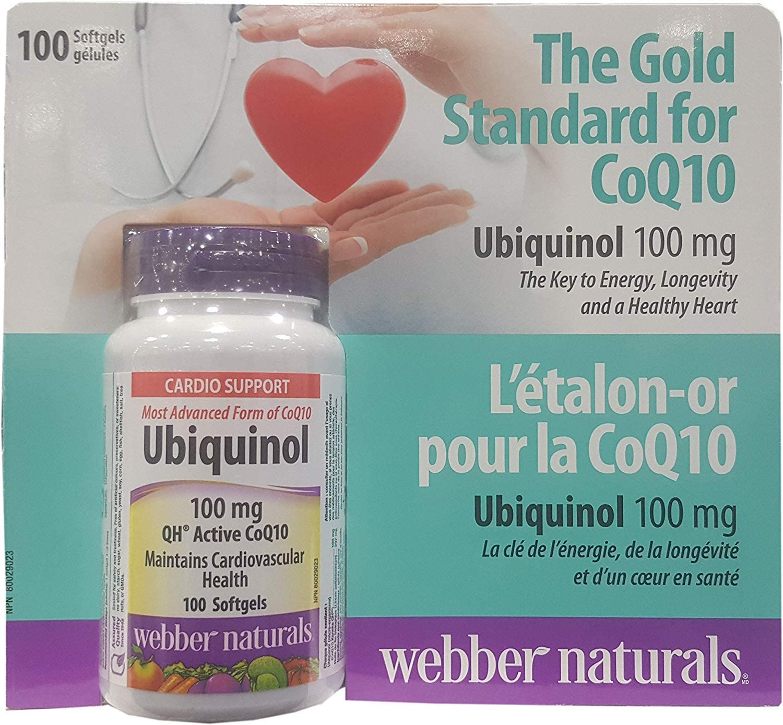 Max 59% OFF Webber Max 86% OFF Naturals Ubiquinol QH Active softgels CoQ10 100 mg
