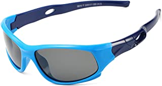 Sports Polarized Kids Sunglasses TPEE Rubber Flexible...