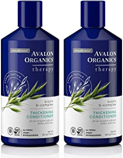 Avalon Organics Biotin B-Complex Thickening Conditioner, 14 Ounce (Pack of 2)
