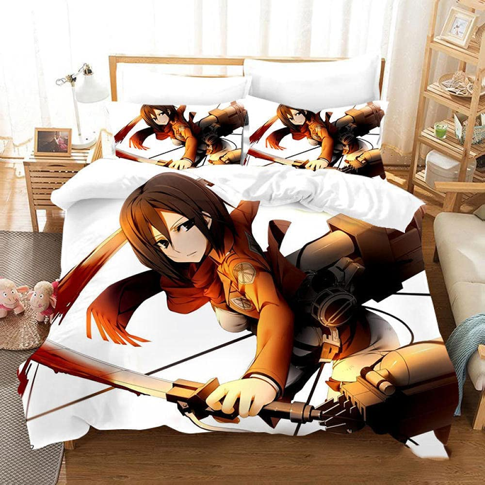 Attack on Titan Anime 3 PCS Set Beddin Pattern Cover Duvet Albuquerque Mall Limited time cheap sale