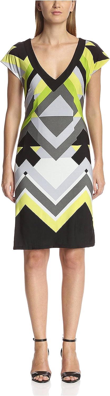 Melissa Masse Women's V-Neck Printed Shift Dress