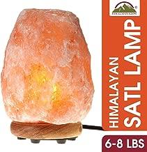 Himalayan Glow Natural Pink Salt Lamp, Crystal Salt Lamp Night Light with (ETL Certified) Brightness Control Dimmer Switch, Wooden Base & Salt Lamps Bulb | 6-8 LBS