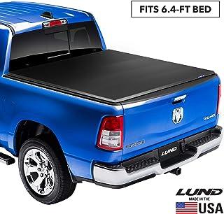 "Lund Genesis Elite Tri-Fold Soft Folding Truck Bed Tonneau Cover | 95864 | Fits 2003-18, 19/20 Classic Dodge Ram 1500 6' 4"" Bed"