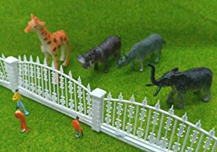 FidgetKute HO Scale Animal Figures Set for Model Train Layout Zoo Wild Animal Park Circus
