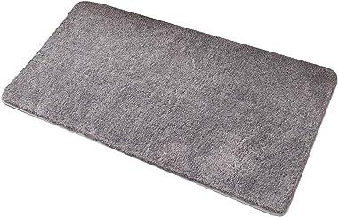 Non-Slip Doormat, Entrance Rug Super Absorbent Water Door Mats Mud Dirt Trapper Mats for Indoor and Outdoor Bathroom,Gray