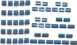 DGZZI 50pcs Blue 5mm Pitch PCB Mount Screw Terminal Block Connector for Arduino (20pcs 2 Pin + 15pcs 3 Pin + 15pcs 4 Pin)