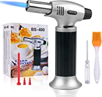 Butane Torch,SPLAKS Culinary Blow Torch Chef Cooking Torch Lighter, Butane Refillable, Flame Adjustable (MAX 2500°F)...
