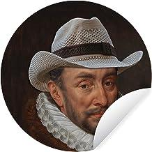 Muursticker Oude meestersKerst illustraties - Wandcirkel Oude meestersKerst illustraties - Willem van Oranje door oude mee...