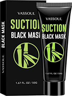Best Vassoul Blackhead Remover Mask, Charcoal Mask - Deep Cleansing Blackhead Peel Off Mask, Black Mask for Men & Women Reviews